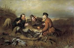 «Охотники на привале Василия Перова»