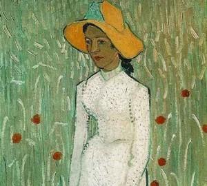 Картина Девушка в белом, Винсент Ван Гог, 1890