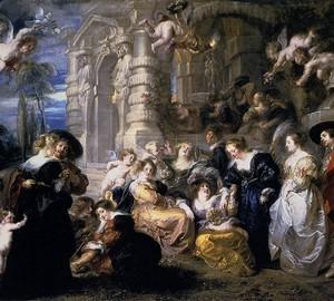 Сад любви - Питер Пауль Рубенс. 1632