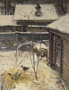 Сочинение по картине «Дворик Зима Алексея Саврасова»