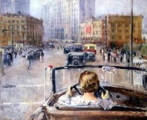 Сочинение по картине Новая Москва Юрия Пименова