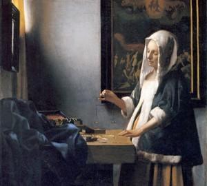 Женщина, взвешивающая жемчуг, Ян Вермер Делфтский
