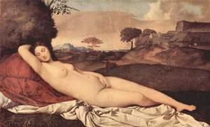 Джорджоне Спящая Венера