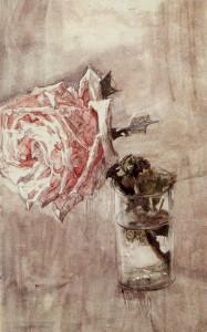 Михаил Врубель. Роза в стакане