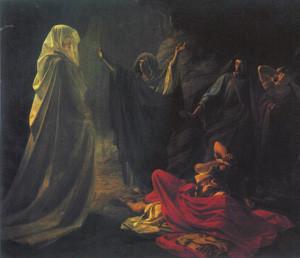 Николай Ге. Аэндорская волшебница вызывает тень Самуила