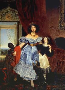 Портрет Ю.П. Самойловой с Джованиной Пачини и арапчонком