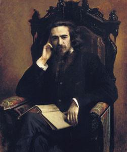 Портрет философа Владимира Сергеевича Соловьёва