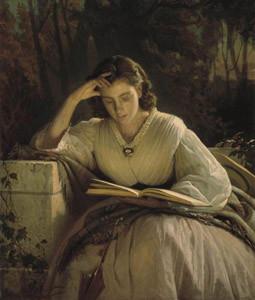 За чтением. Портрет Софьи Николаевны Крамской