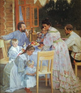 Сочинение по картине Б.М. Кустодиева «На террасе»