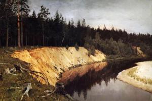 Сочинение по картине И.И. Левитана «Лесистый берег»