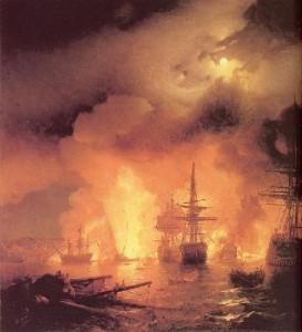 Сочинение по картине И.К. Айвазовского «Чесменский бой»