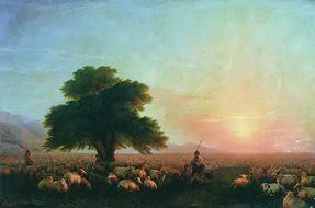 Сочинение по картине И.К. Айвазовского «Отара овец»