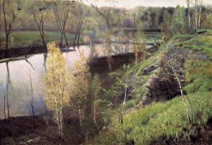 Сочинение по картине И.С. Остроухова «Первая зелень»