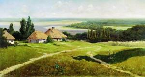 Сочинение по картине В.Е. Маковского «Украинский пейзаж с хатами»
