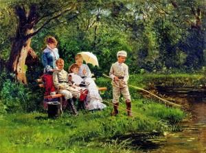 Сочинение по картине В.Е. Маковского «В жаркий день»