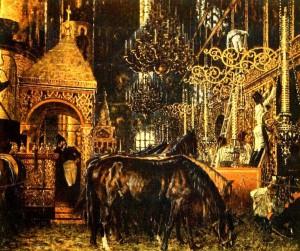 Сочинение по картине В.В. Верещагина «В Успенском соборе»